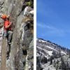 First Ascent of Whistle Pigs at Rock Springs Buttress