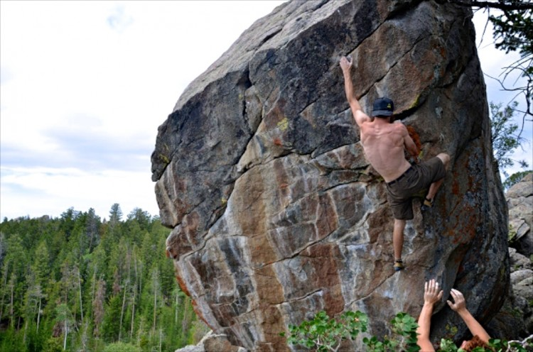 Mitch on Nexus, a V6 at the Rock Shop.